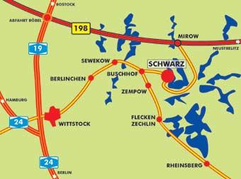 Mecklenburgische Seenplatte Kartenansicht.Ferienwohnungen In Schwarz An Der Mecklenburger Seenplatte